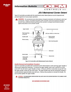 IB 609E JS5 Maintained Center Detent