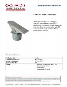 fp3 foot pedal controller bulletin