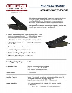hfp4 foot pedal bulletin