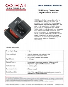 hrs selector switch bulletin