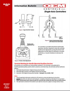 single axis controller bulletin
